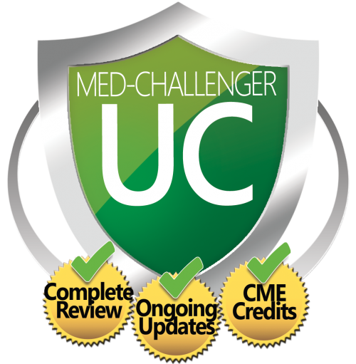Urgent Care Board Exam Review and CME, Med-Challenger UC, Complete Review, Ongoing Updates, CME Credits