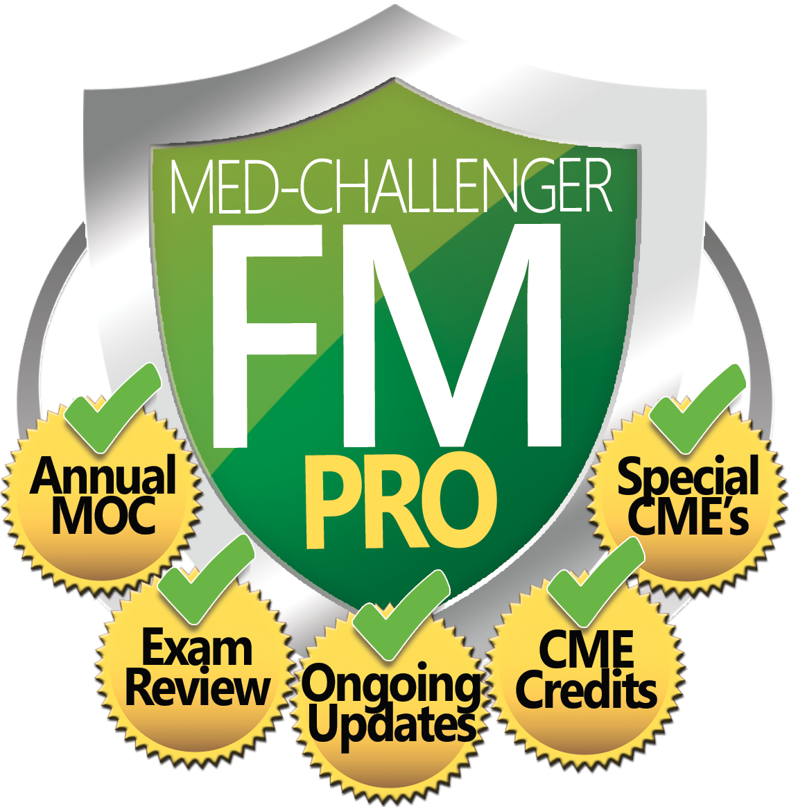 Emergency Medicine Board Review, Med-Challenger EM Pro, Annual MOC, Exam Review, Ongoing Updates, CME Credits, Special CME's