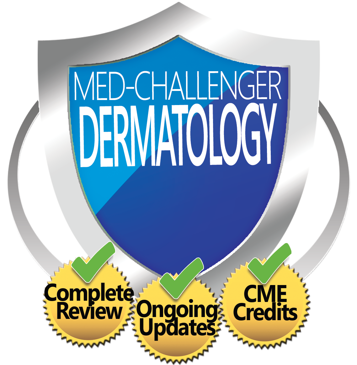 Dermatology Skills Review, Med-Challenger Dermatology, Complete Review, Ongoing Updates, CME Credits