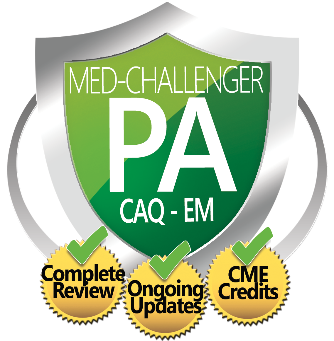Physician Assistant CAQ EM Board Review, Med-Challenger EM, Complete Review, Ongoing Updates, CME Credits