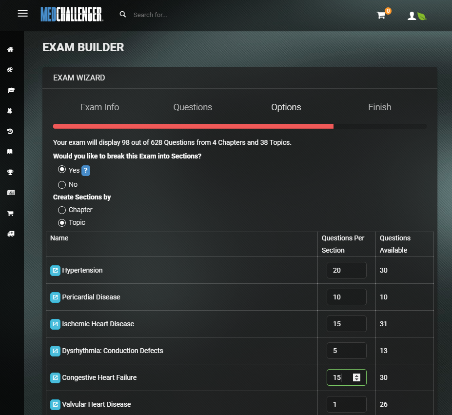 Med-Challenger's Custom Exam Builder completes the cycle of remediation