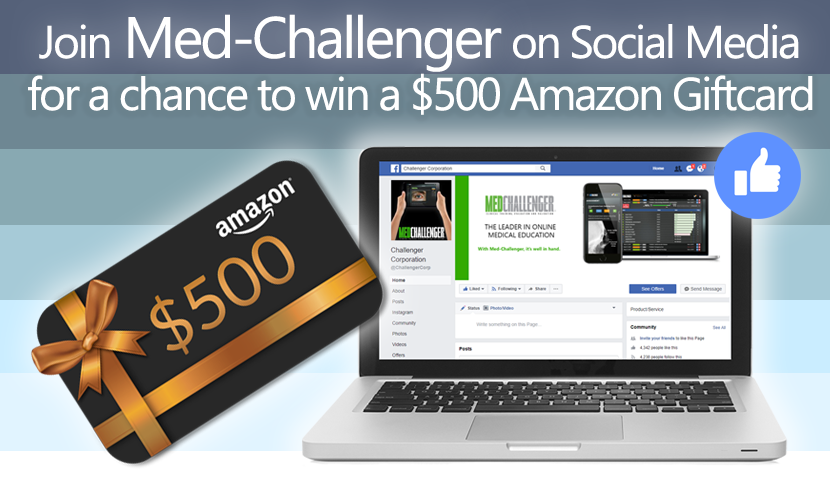 Med-Challenger Social Contest, Win an Amazon Gift Card, Social Media Contest