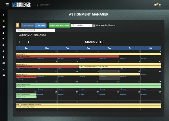 online assignment calendar management and tracking