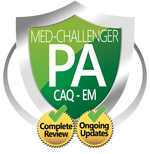 CAQ-EM certification of added qualifications in emergency medicine for physician assistants board review with CME credit