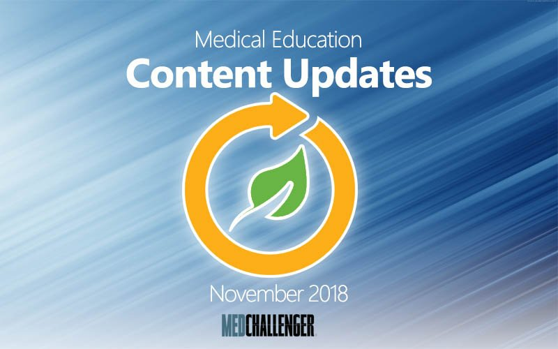 medical education content updates for November 2018