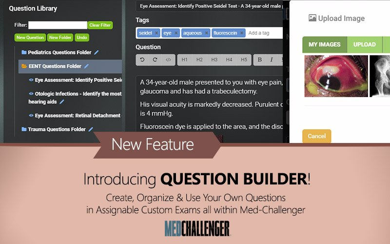 make your own custom questions online with Med-Challenger