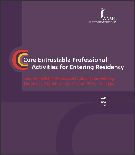 Association of American Medical Colleges (AAMC) EPA toolkit