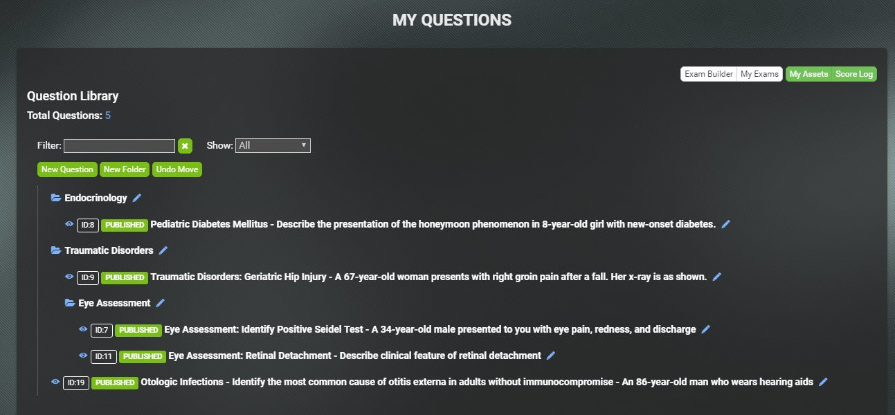 Create your own question library online.