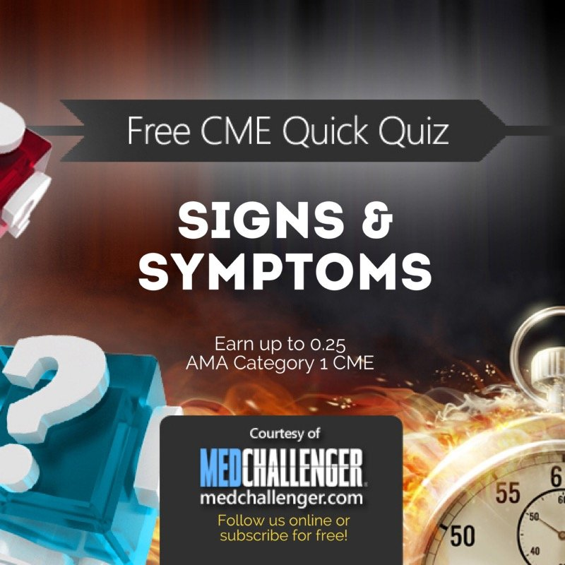 medical signs and symptoms board review questions