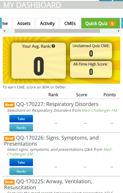 free cme quick quiz user guide mobile