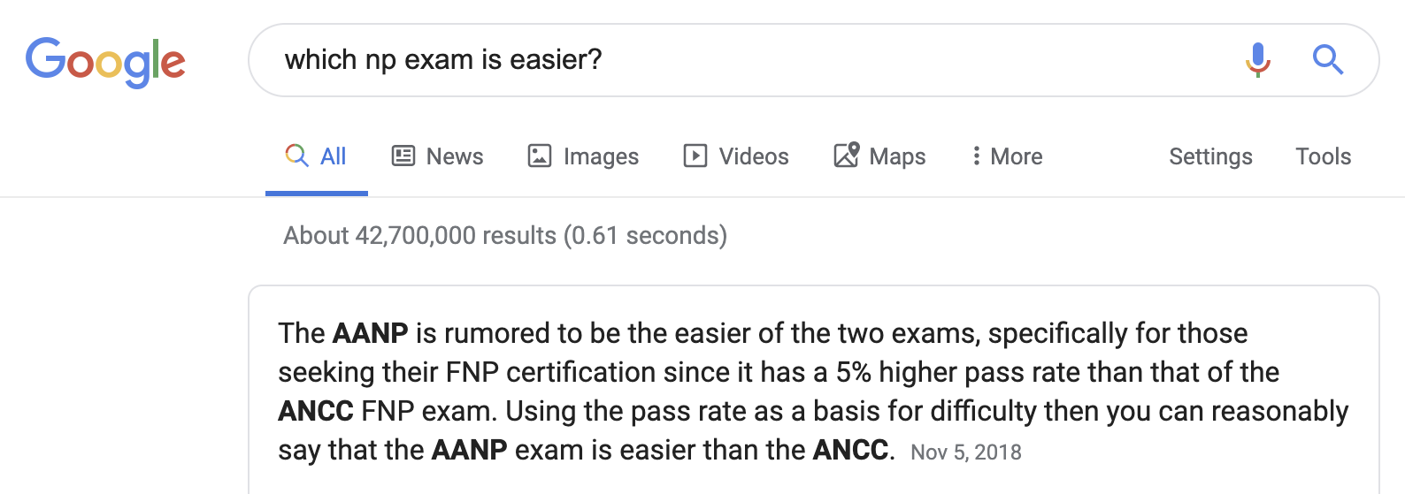 Which fnp exam is easier?