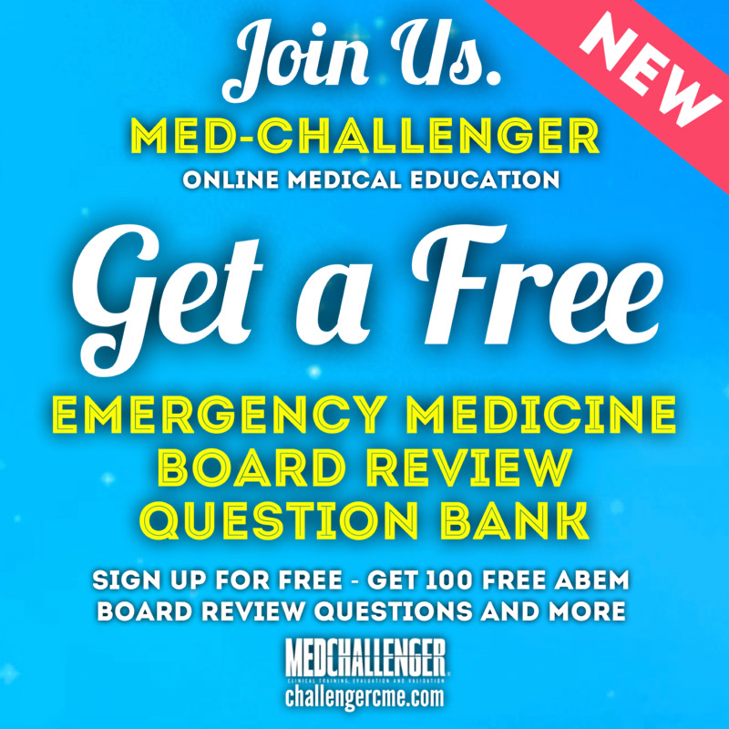 Get a free emergency medicine board review question bank