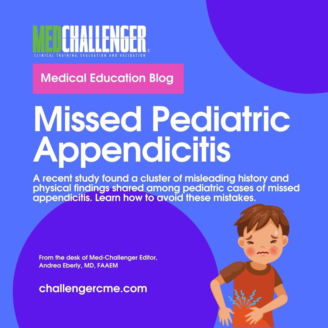 """Featured image for """"Missed Pediatric Appendicitis Cases and Common Misleading History and Findings – Closing the Clinical Knowledge Gap"""""""